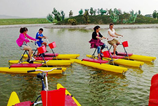 Water pedal boats in the amusement park