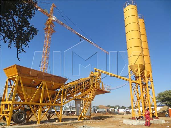 передвижной бетонный завод YHZS35